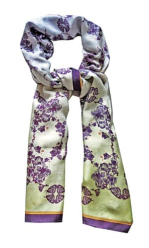 Lisan Ly Digital Print Silk Scarf