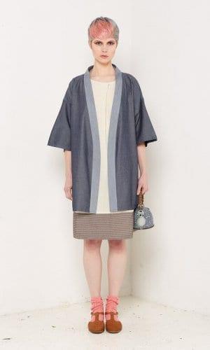 Bo Carter Blue Denim Mid Length Kimono