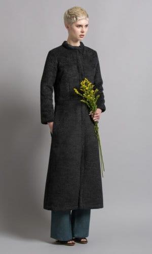 Bo Carter Fully Lined Irish Wool Black Coat
