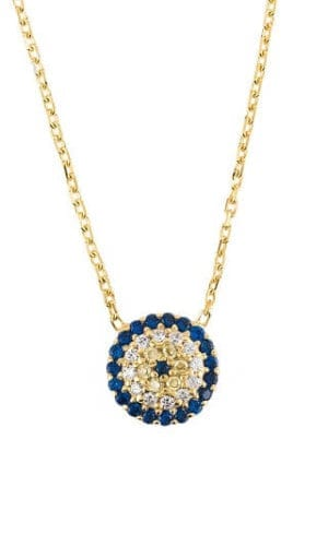 Latelita Gold Evil Eye Pendant Necklace
