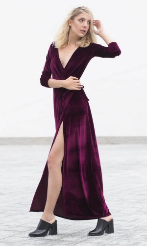 Velvet Wrap Dress by Bastet Noir