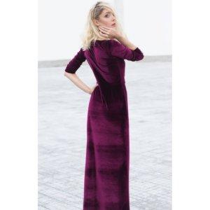 Velvet Wrap Dress by Bastet Noir