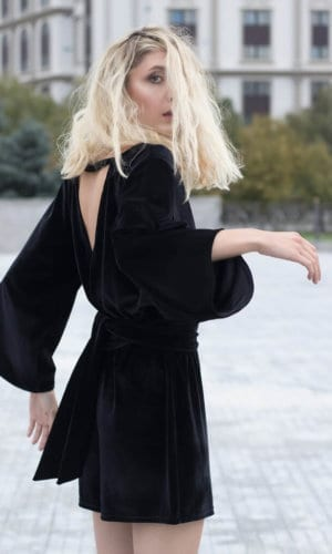 Velvet Short Jumpsuit by Bastet Noir