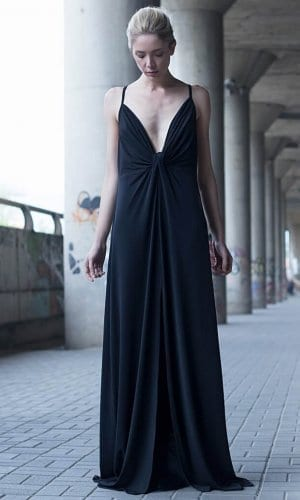 Strappy Maxi Dress by Bastet Noir