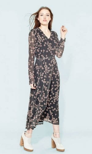 Maxi Floral Print Dress by Alice's Pig