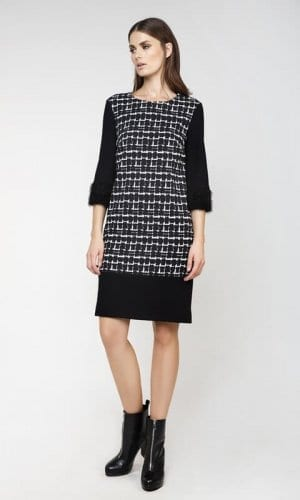 Conquista Midia Monochrome Print Dress