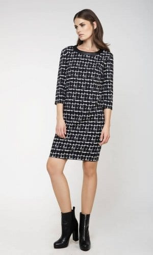 Conquista Monochrome Midi Sack Dress