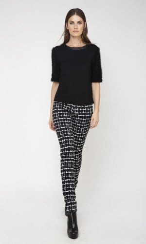 Conquest High Waisted Monochrome Trousers