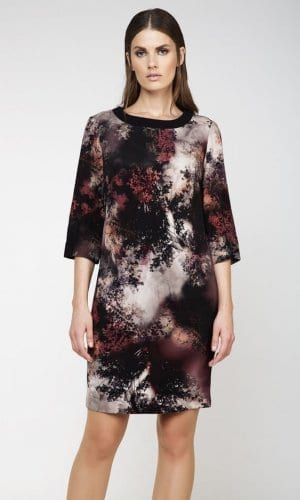 Conquista Sack Midi Printed Dress