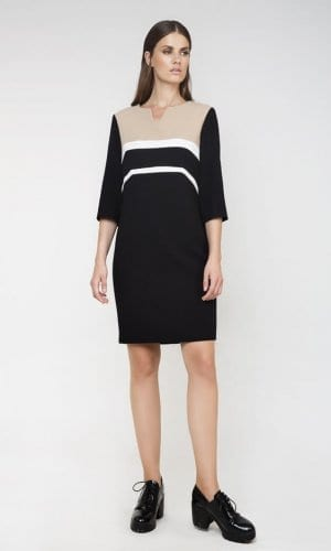 Conquista Straight Panel Midi Dress
