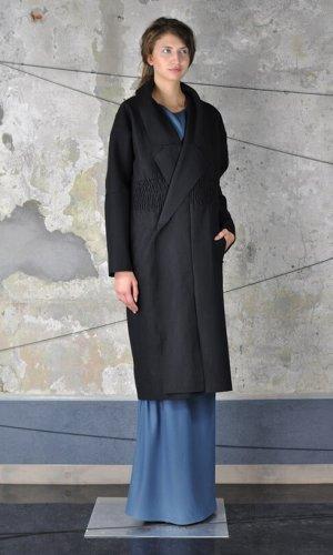 Black Oversize Coat by Nah-Nu