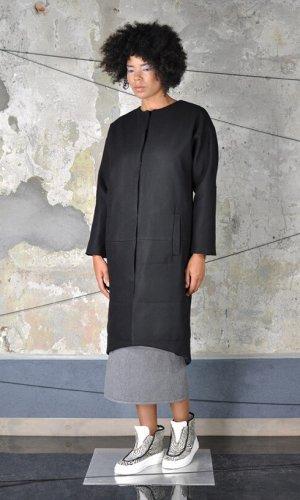 Black Minimalist Coat by Nah-Nu