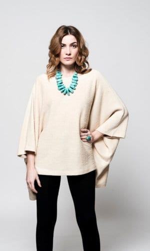 Beige Cape Jumper By Lifegist