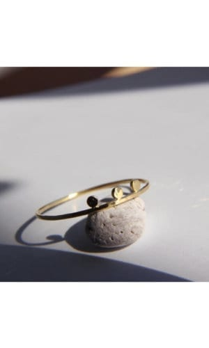 Gold Three Dot Ring By Irena Chmura