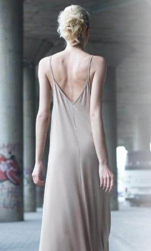 Beige Strappy Maxi Dress By Bastet Noir