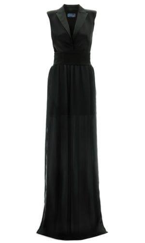 Long Black Maxi Chiffon Dress By Stefanie Remona