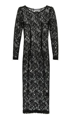 Black Midi Lace Dress By Stefanie Renoma