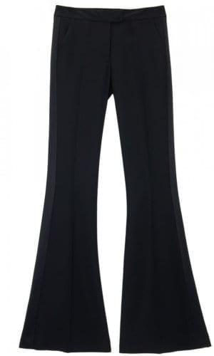 Black Flared Tuxedo Trousers By Stefanie Remona