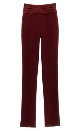 Burgundy Stretch Tuxedo Trousers By Stefanie Remona