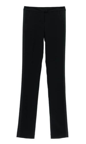 Black Satin Feature Tuxedo Trousers By Stefanie Remona