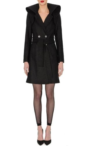 Black Large Collar Stefanie Remona Coat