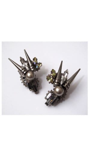 Swarovski Crystal Earrings By Heiter Cotuture