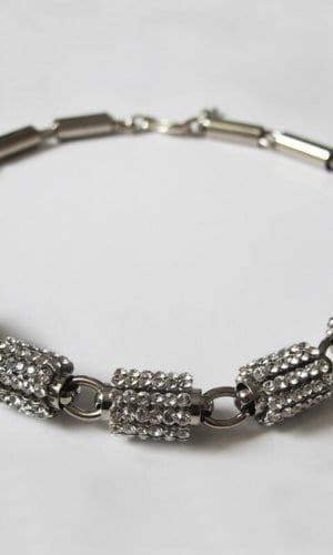 Palladium Plated Swarovski Necklace By Heiter Couture