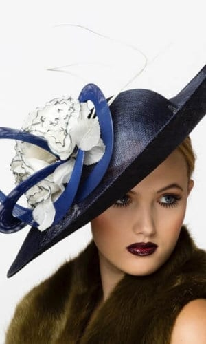 Blue My Fair Lady Hat by Karen Morris