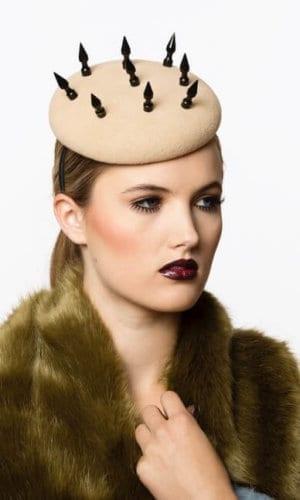 Brown Spike Queen Hat by Karen Morris