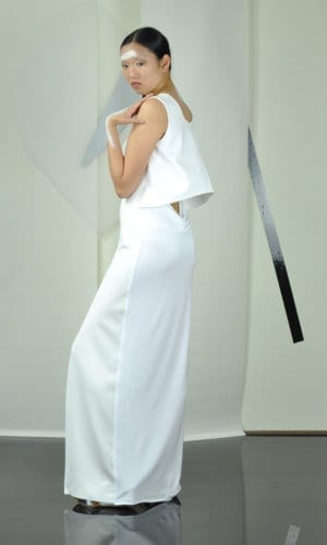 White Maxi Dress by Nah-Nu