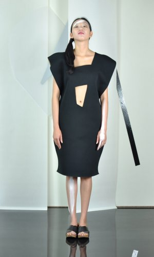 Black Minas Dress by Nah-Nu