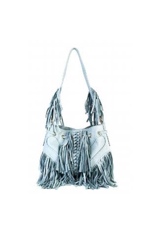 Light Blue Infinity Tassel Bag By Lebulga