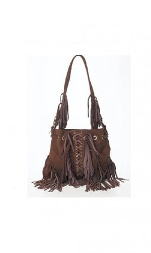 Brown Infinity Tassel Bag By Lebulga