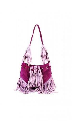 Pink Infinity Contrast Tassel Bag By Lebulga