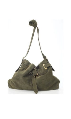 Green Messenger Cross Body Bag By Lebulga