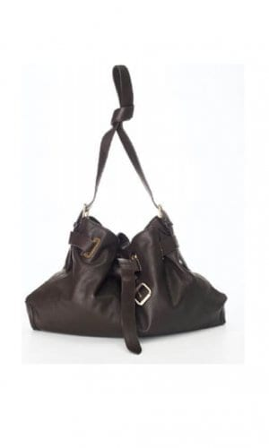 Brown Messenger Cross Body Bag By Lebulga