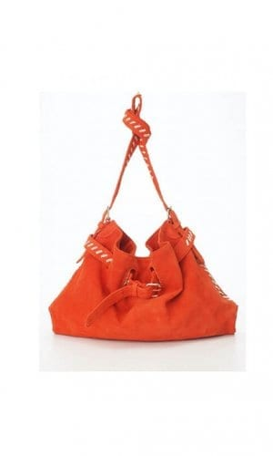 Orange Messenger Cross Body Bag By Lebulga