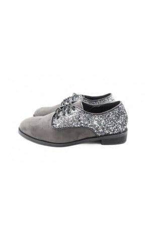 Grey Brouge With Glitter Detail By Seira Elves