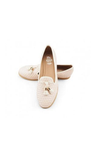 Beige Crotchet Leather Shoe By Seria Elves