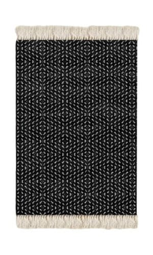Black and White Floor Rug