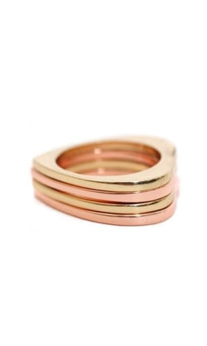 Stacked Heart Rings