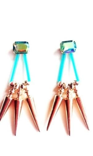 Spiked Metallic Earrings