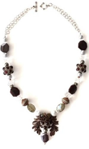 Sterling Silver Pyrite Bead Necklace