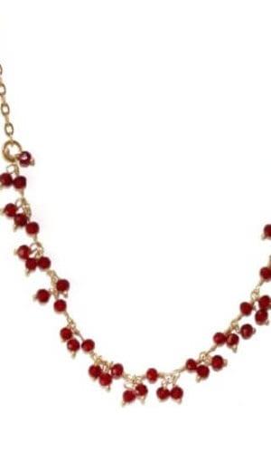 Gold Quartz Berry Necklace