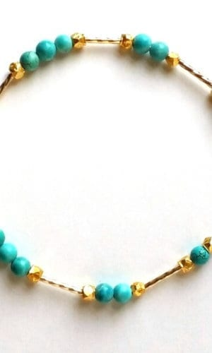 Turquoise Gold-Plated Bracelet