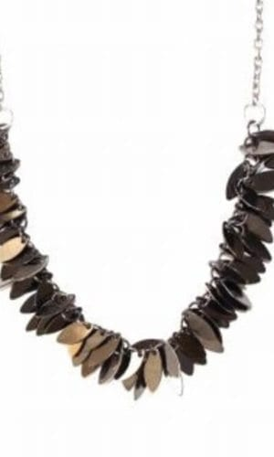 Charcoal Metal Necklace