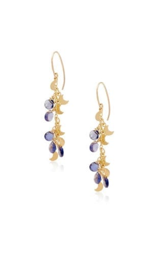 18K Gold Chandelier Earrings By Lily Flo