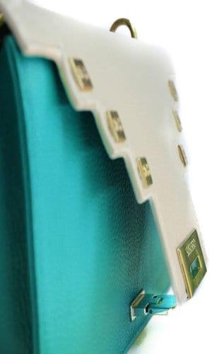 Green Clutch Shoulder Bag By Susurro Ldn