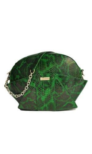 Green Relliana Shoulder Bag By Susurro Ldn