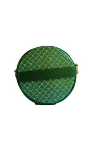 Green Round Clutch Bag By Susurro Ldn